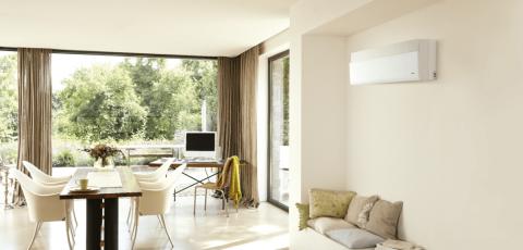 climatisation reversible installée dans maison