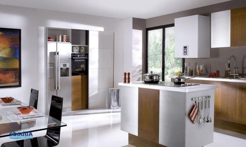 chaudiere murale chaffoteaux dans une cuisine