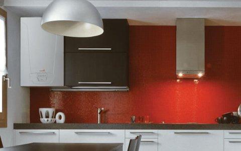 Chaudière murale gaz dans une cuisine