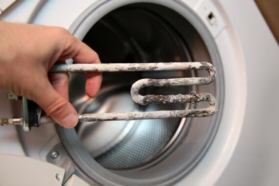 résistance de lave linge avec du tartre