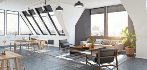 Intérieur appartement sous les toits