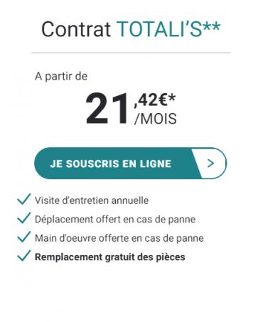 Entretien chaudière gaz : contrat Totalis